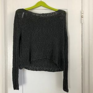 Brandy Melville knit off the shoulder long sleeves